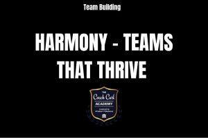 Harmony Teams that Thrive